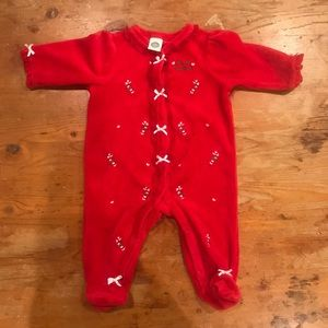 EUC Christmas Sleeper Outfit Size 3months